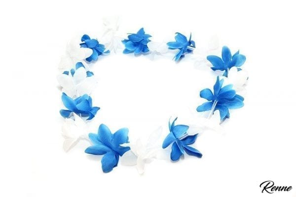 שרשראות הוואי כחול לבן