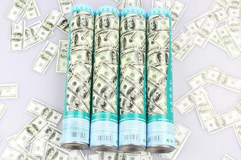 קונפטי דולרים