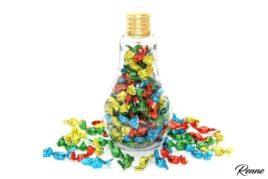 סוכריות יהלום צבעוני