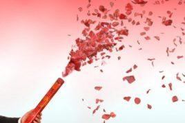 קונפטי לבבות מקצועי אדום לבן