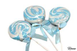 סוכריה על מקל כחול לבן