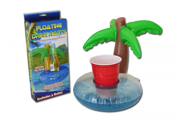 מחזיק כוסות לבריכה בעיצוב עץ דקל