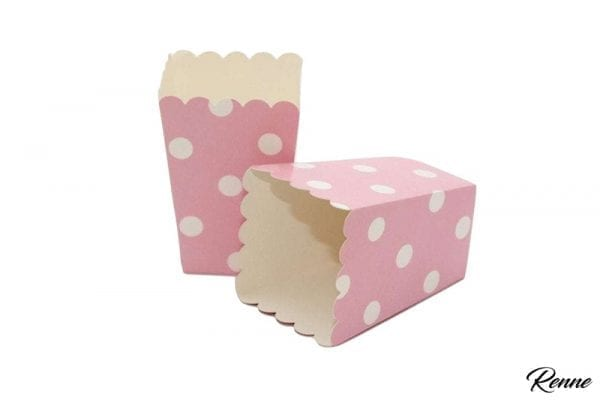 קופסאות למילוי ורוד נקודות