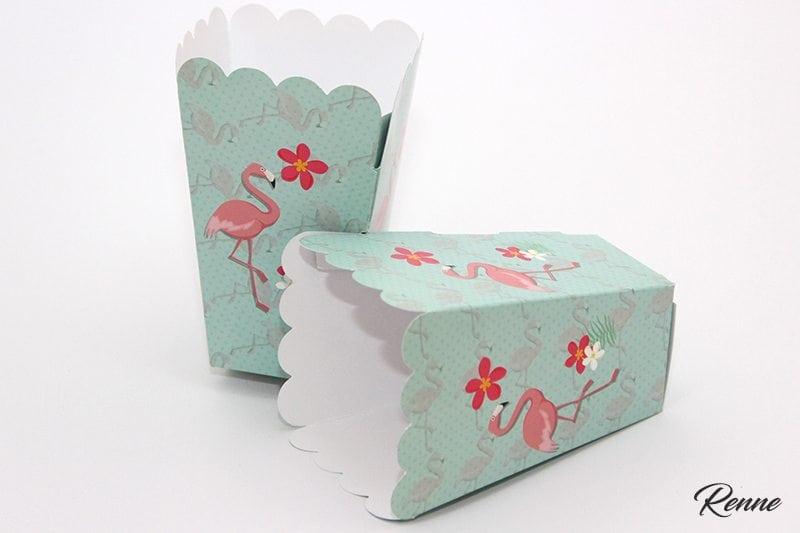קופסאות פופקורן פלמינגו