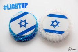 סיכת דגל ישראל עגולה פרווה