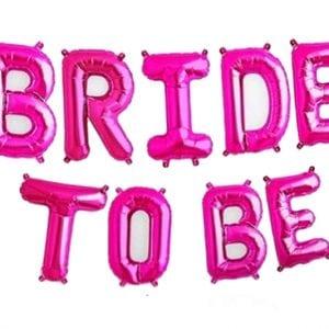 בלוני bride to be בצבע ורוד