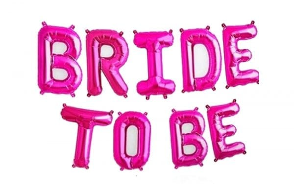 בלוני bride to be בצבע ורוד