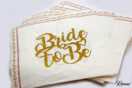 מפיות Bride To Be מעוצבות