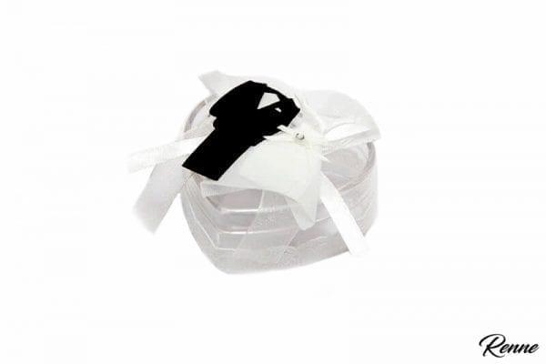 קופסא פלסטיק בצורת לב דגם חתן כלה