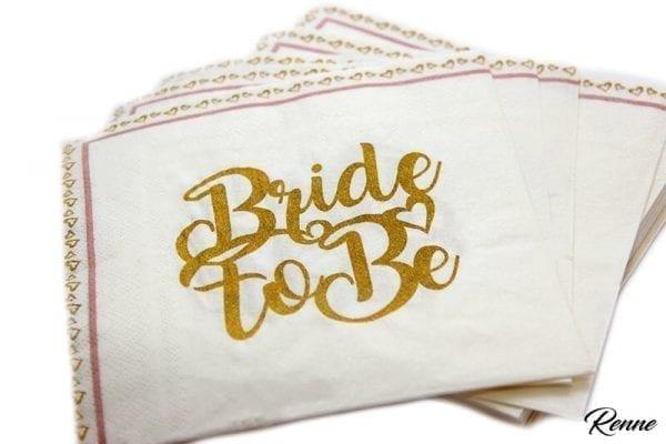 מפיות Bride To Be מעוצבות