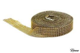 """גליל חרוזים זהב רוחב 3 ס""""מ"""