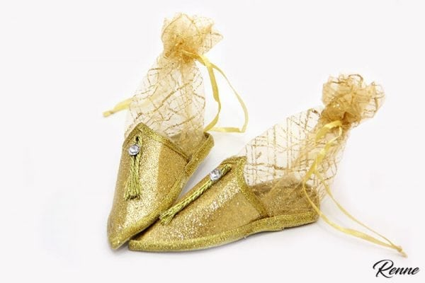 מתנה מתוקה לאורחים בחינה בעיצוב נעל מרוקאית.