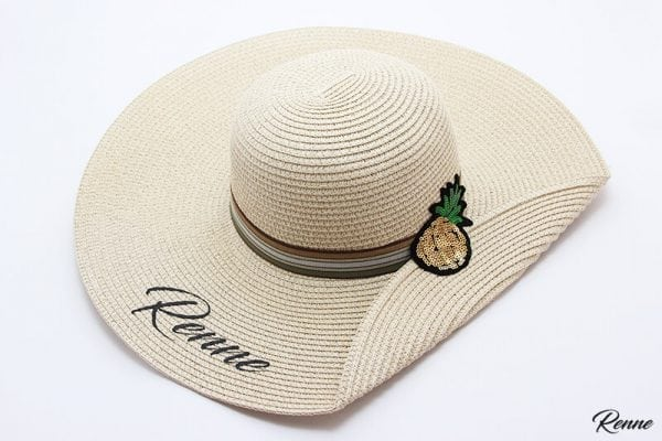 כובע קש מעוצב דגם GlossyPine