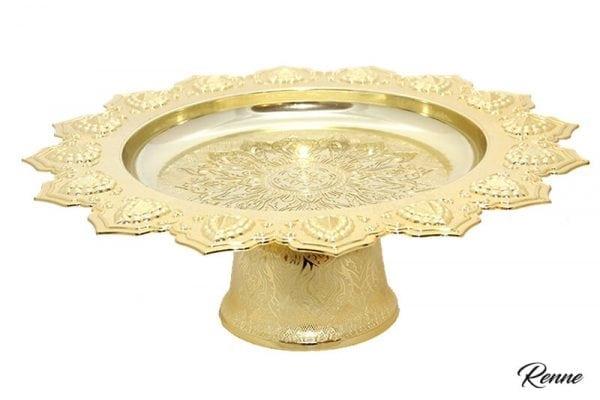 מגש חמניה ענק בצבע זהב