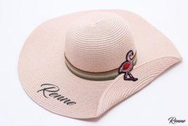 כובע קש ורוד עתיק דגם FLAMINGO
