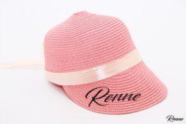 כובע קש מצחיה בצבע ורוד