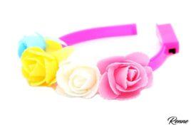 קשת פרחים עם אורות