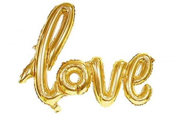 בלון love מחובר זהב