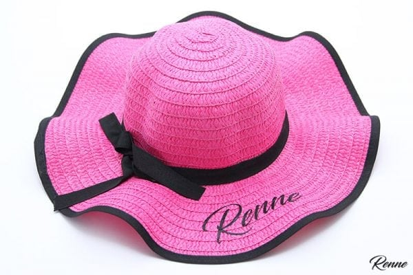 כובע קש ממותג דגם LADY
