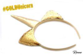 קשת חד קרן בצבע זהב