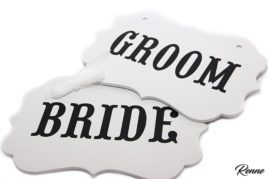 שלטים BRIDEGROOM לבנים