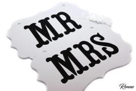 שלטי MRMRS לבנים