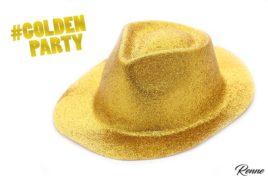 כובעי צנצנים בצבע זהב