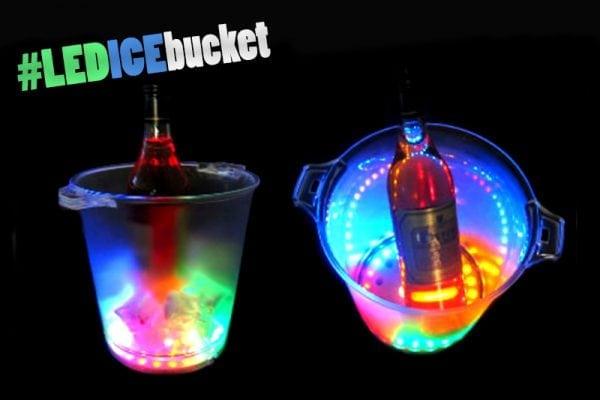 דלי קרח LED