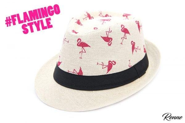 כובע קש פלמינגו שמנת