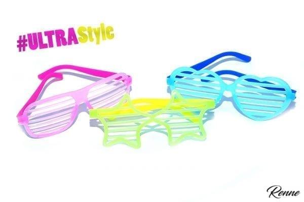 משקפי אולטרה צבעוניות בצורות