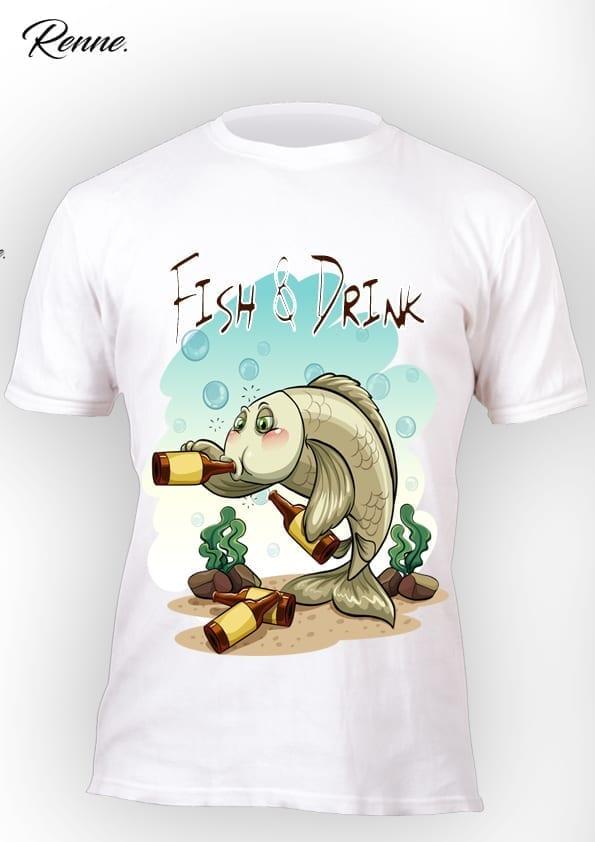 חולצת Fish & Drink