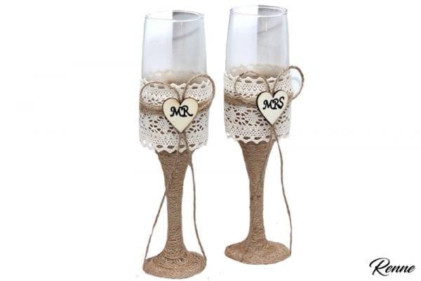כוסות יוטה מזכוכית