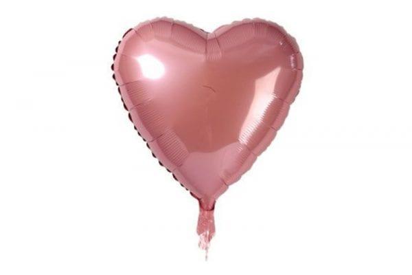 בלון לב בצבע רוז גולד