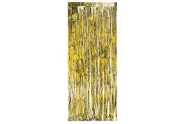 וילון פרנזים מעוצב זהב