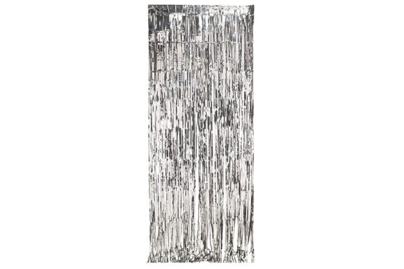 וילון פרנזים מעוצב בצבע כסף