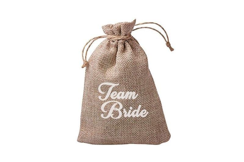 שקית יוטה איכותית Team Bride