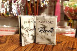 כיסוי דרכון עיצוב שיש