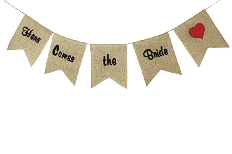 שרשרת דגלים יוטה here comes the bride