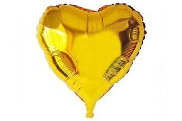 בלון מיילר בצורת לב בצבע זהב