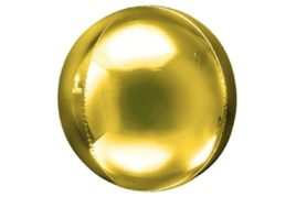 בלון מיילר עגול בועה בצבע זהב