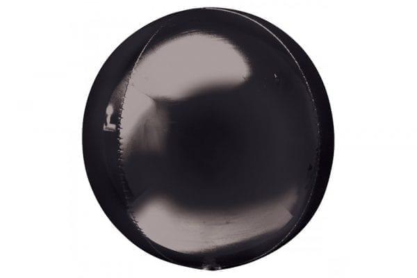 בלון מיילר עגול בועה בצבע שחור