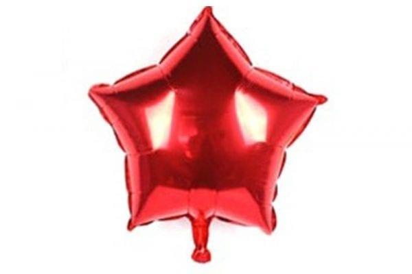 בלון מיילר בצורת כוכב בצבע אדום