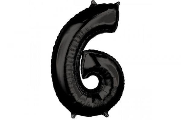 בלון סיפרה 6 שחור