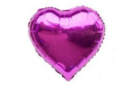 בלון מיילר בצורת לב בצבע סגול