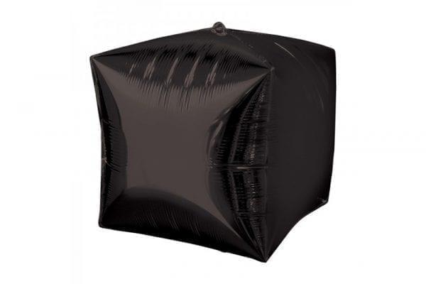 בלון מיילר בצורת קוביית תלת מימד בצבע שחור