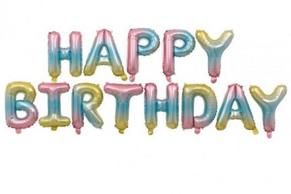בלוני happy birthday OMBRE