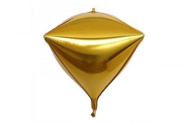 בלון מיילר בצורת יהלום בצבע זהב