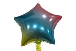 בלון מיילר בצורת כוכב בצבע צבעוני