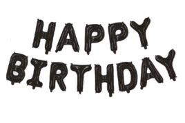 בלוני happy birthday שחור