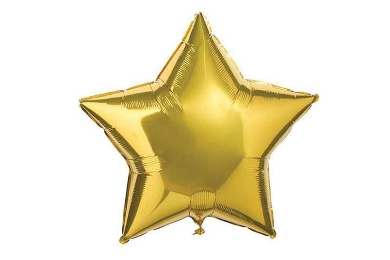 בלון מיילר בצורת כוכב בצבע זהב